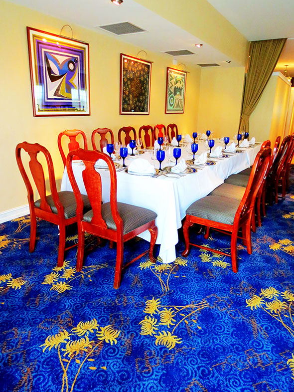 Custom Carpet Installation at Brooks Restaurant | Deerfield Beach FL