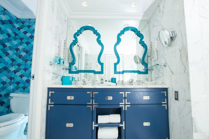 Custom Interior Design For The Bathrooms At EAU Hotel Palm Beach