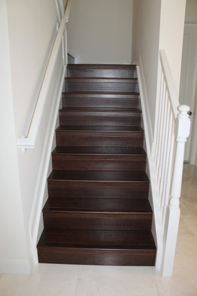 Wood Staircase Installation In South Florida | East Coast Flooring and Interiors