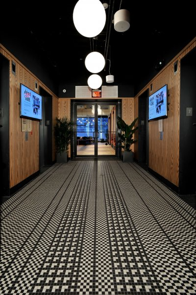 WeWork BCC Brickell Hallway Flooring Installation