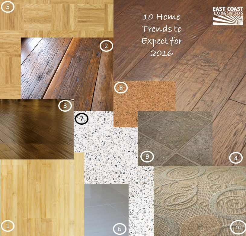 East Coast 2016 Home Trends Carpet Installation Hardwood