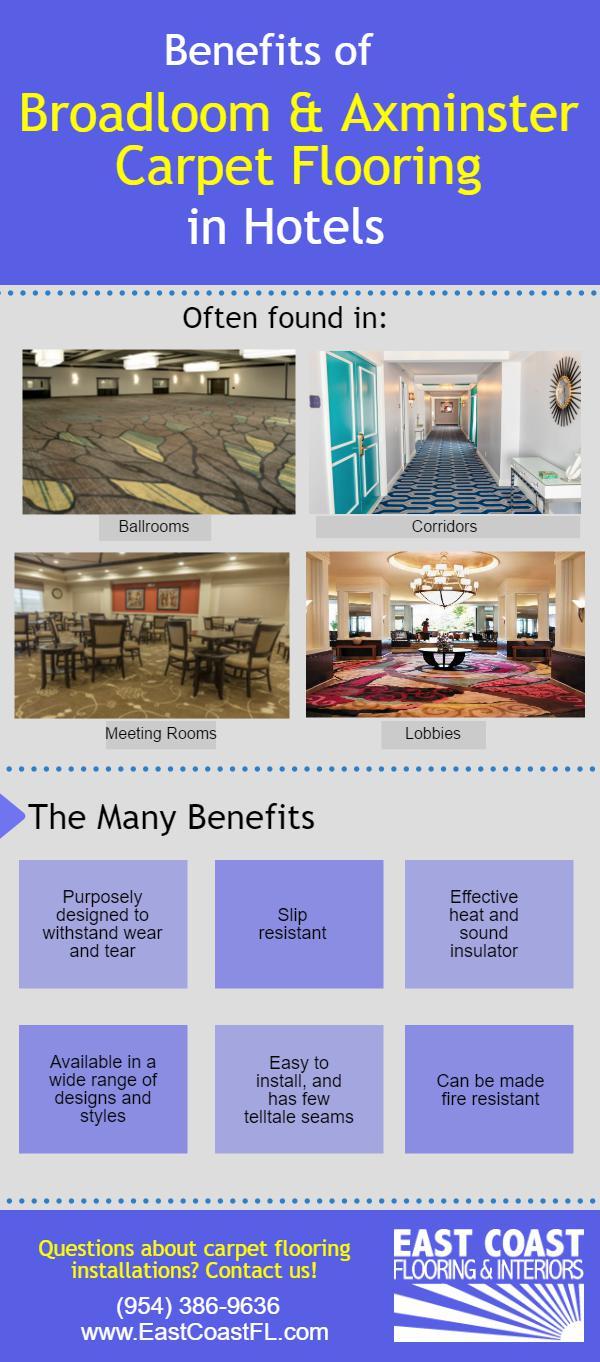 Carpet hotel flooring installations