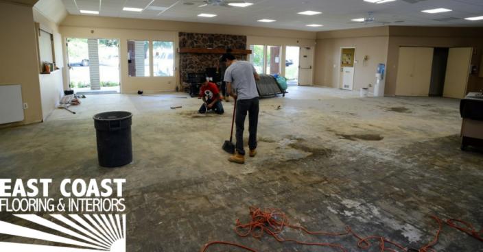 Commercial flooring installation process | East Coast Flooring & Interiors